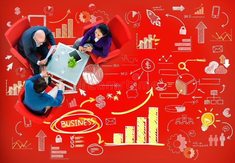 Strategie-Plan-Marketing-Daten-Ideen-Innovations-Konzept lizenzfreie stockfotos