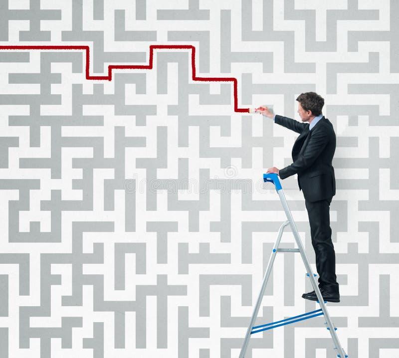 Strategie- und Lösen von Problemen lizenzfreie stockfotografie