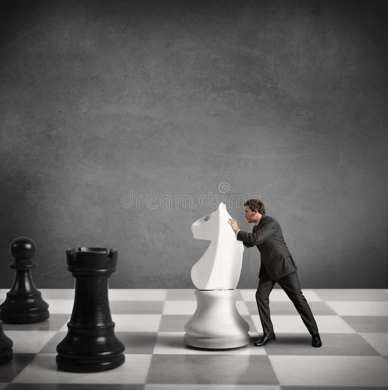 Strategie van een zakenman stock afbeeldingen