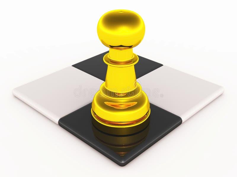 Strategie van schaakspel royalty-vrije illustratie