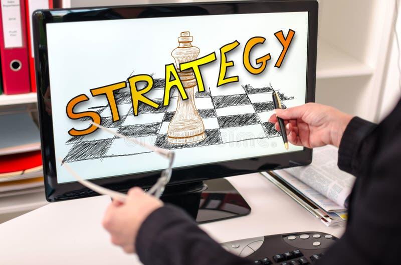 Download Strategieconcept Op Een Computermonitor Stock Foto - Afbeelding: 101010112