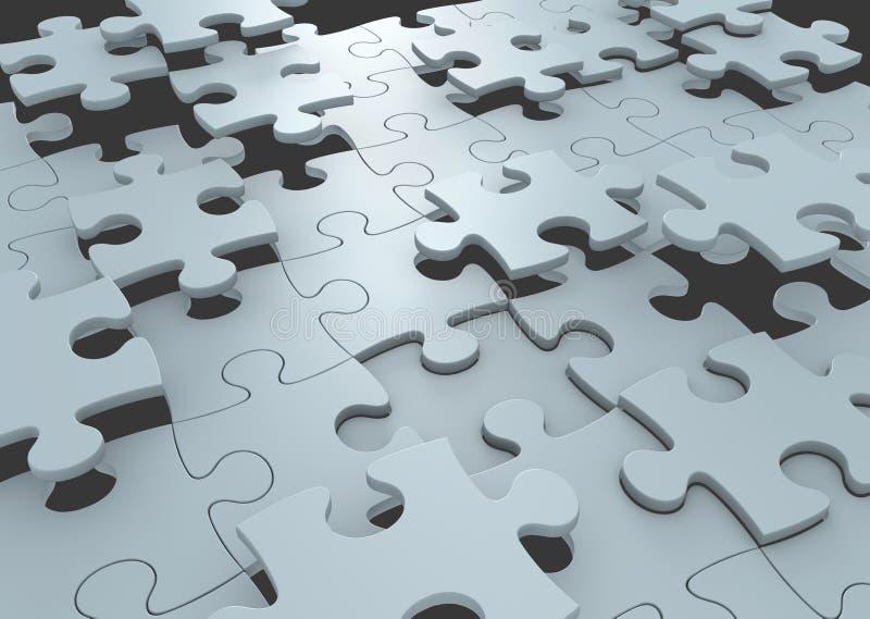 Strategieconcept raadselstukken die een oplossing aan een uitdaging verbinden te vormen vector illustratie