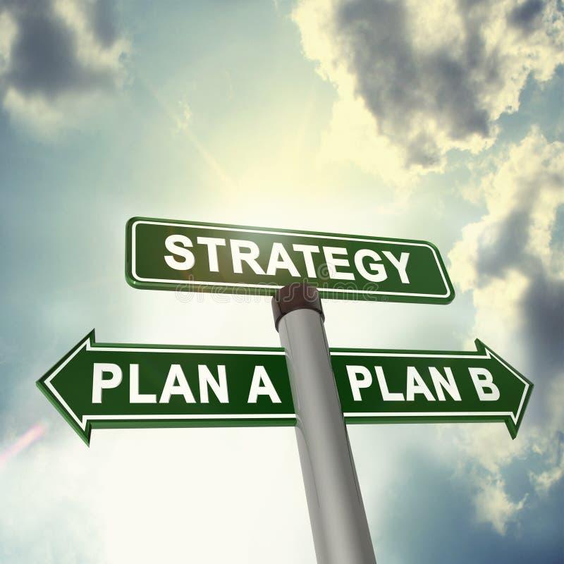 Strategieplanung vektor abbildung