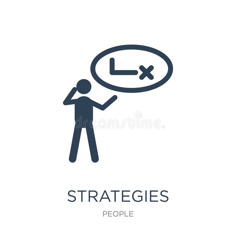 Strategies icon in trendy design style. strategies icon isolated on white background. strategies vector icon simple and modern. Flat symbol for web site, mobile stock illustration