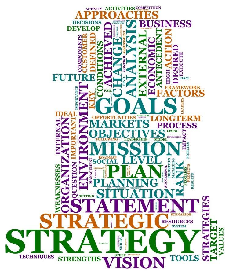 strategietiketter vektor illustrationer
