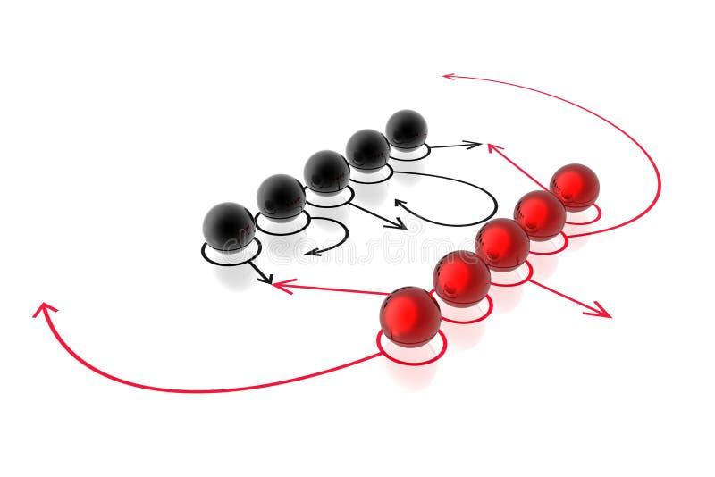 strategiframgångslag vektor illustrationer