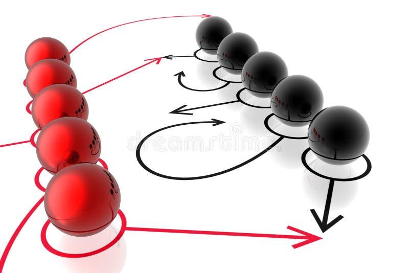 strategiframgångslag stock illustrationer