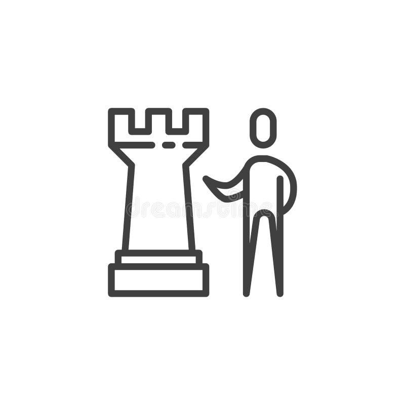 Strategii biznesowej kreskowa ikona ilustracja wektor