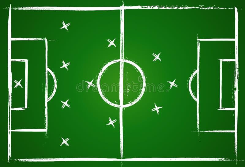 strategii futbolowa praca zespołowa ilustracji