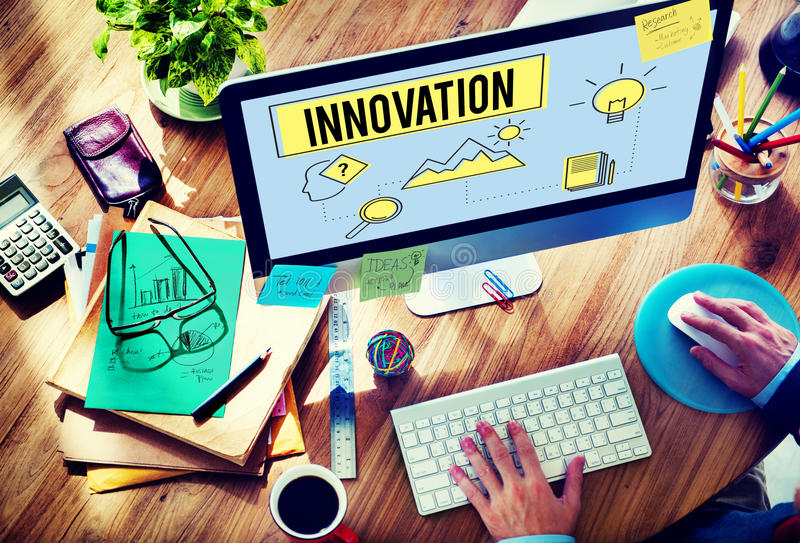 Strategii innowaci rozwiązania pomysłu Obiektywny pojęcie zdjęcia stock
