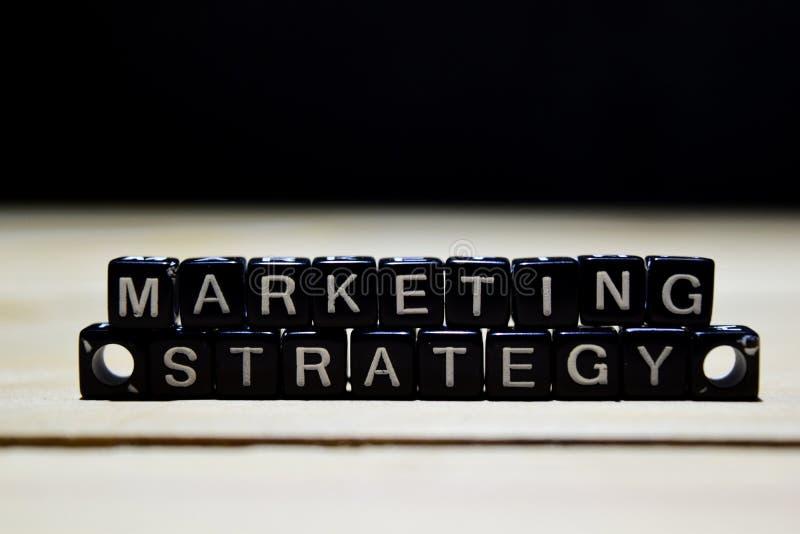 Strategii Marketingowej pojęcia drewniani bloki na stole obraz stock