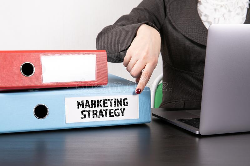 Strategii marketingowej pojęcie obraz stock
