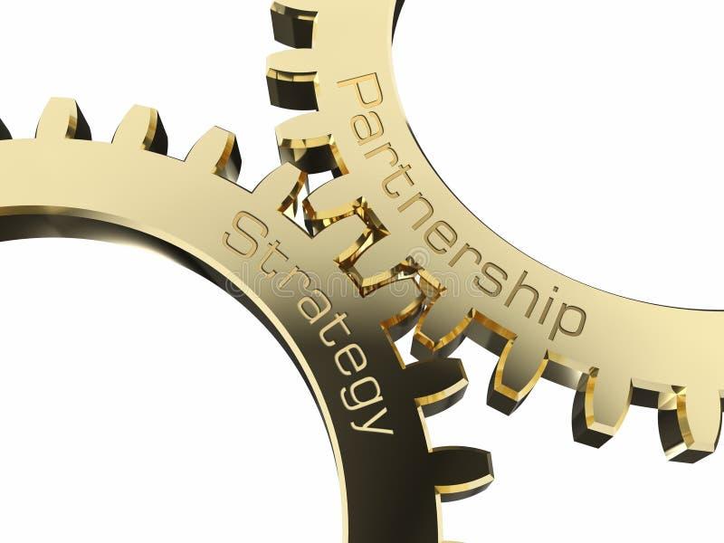 Strategii partnerstwo na gearwheels ilustracja wektor