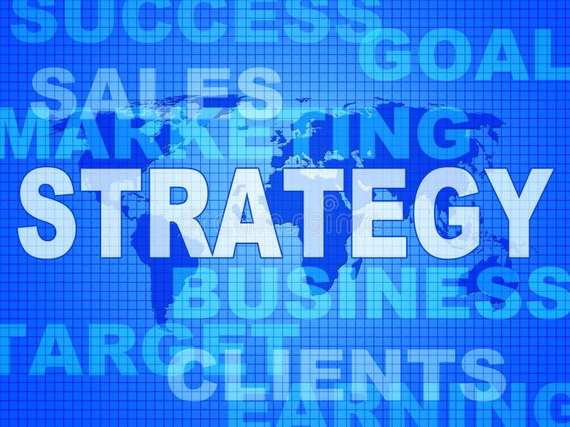 Strategii słowa Wskazują rozwiązanie handel I wzrok ilustracji