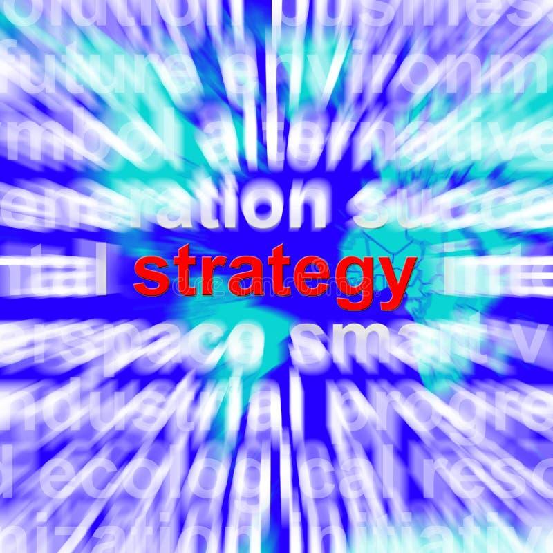 Strategii słowo Pokazuje Planować Dokonywać cele I wzrok ilustracji
