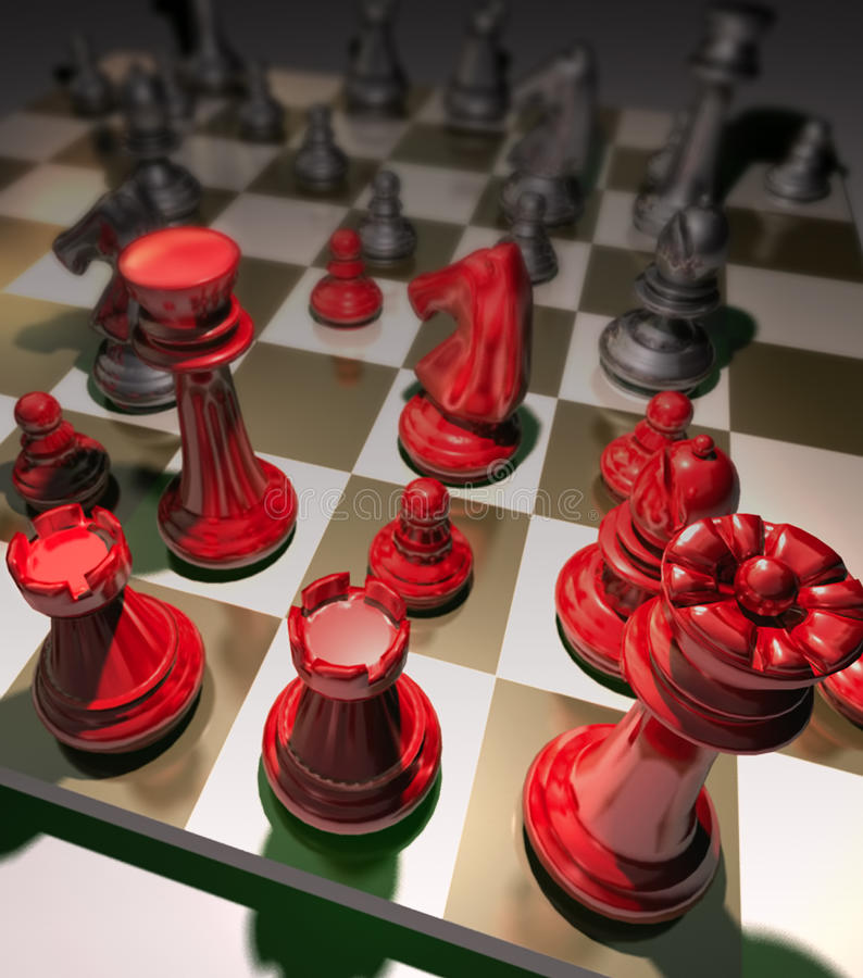 Strategii Szachowa gra obrazy stock