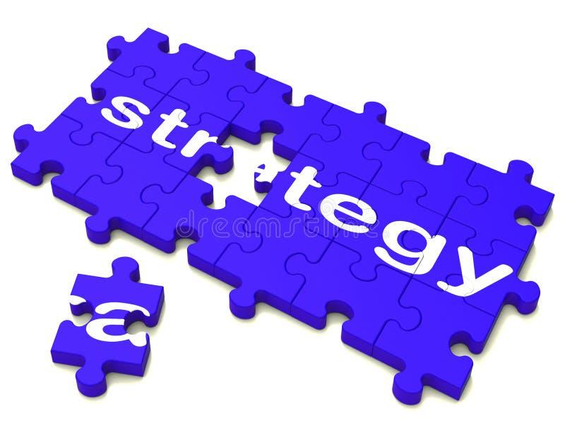 Strategii taktyki I ilustracja wektor