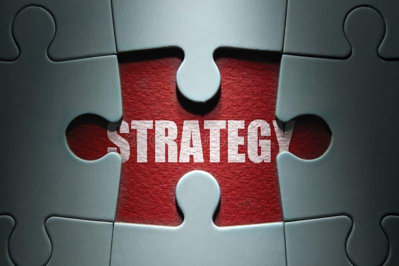 Strategii wyrzynarki łamigłówka fotografia stock