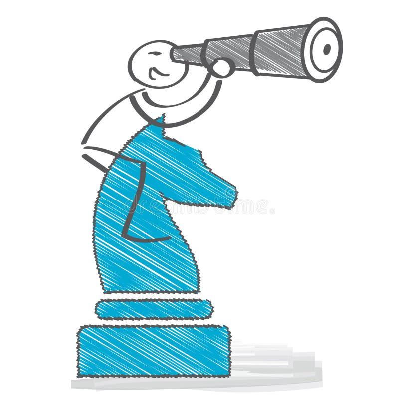 Strategiplanläggning - illustration stock illustrationer