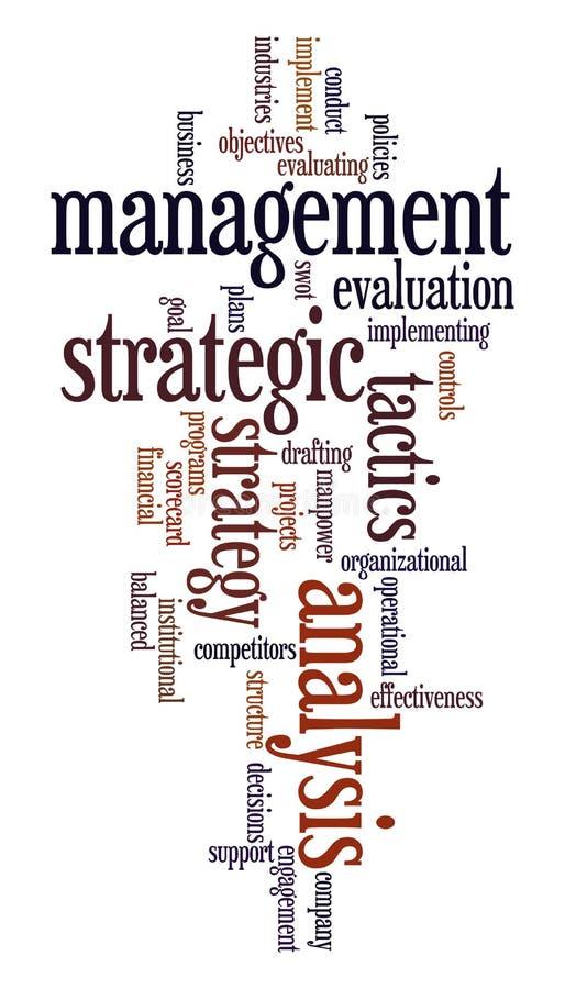 Strategisch beheer royalty-vrije illustratie