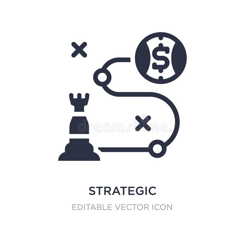 strategisch pictogram op witte achtergrond Eenvoudige elementenillustratie van Bedrijfsconcept royalty-vrije illustratie