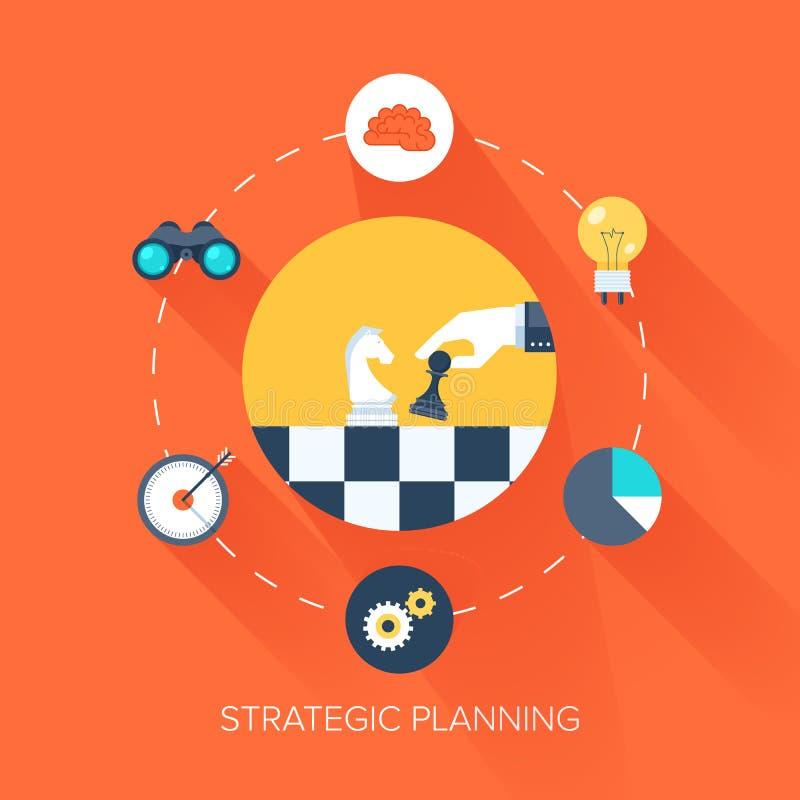 Strategische Planung stock abbildung