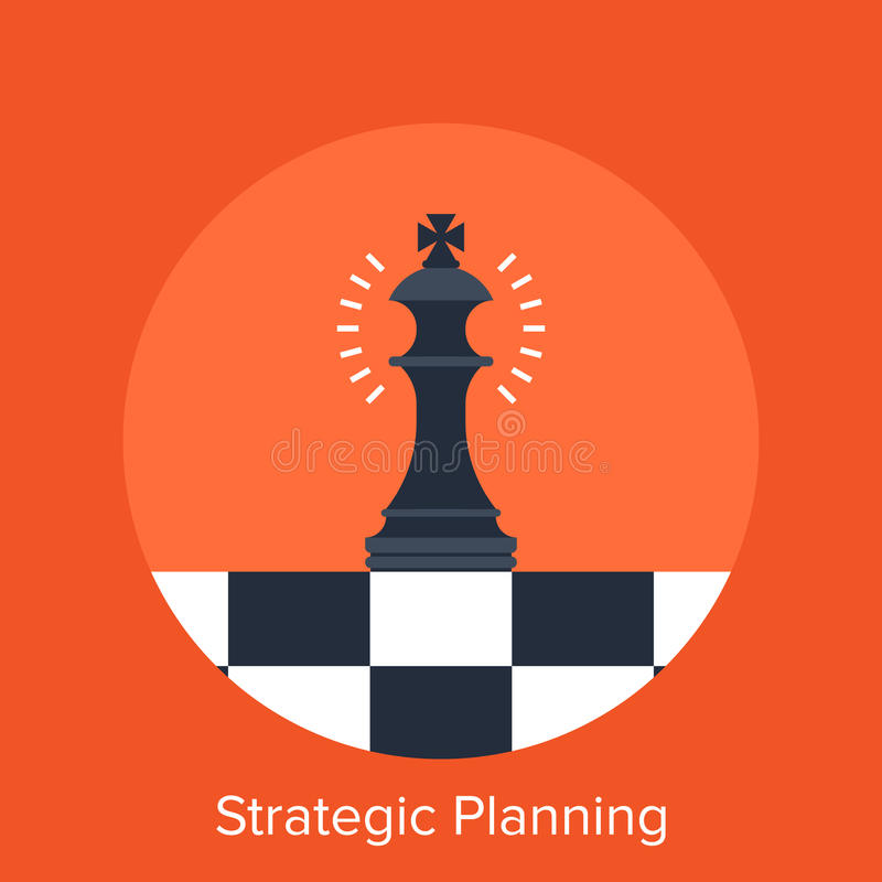 Strategische Planung vektor abbildung