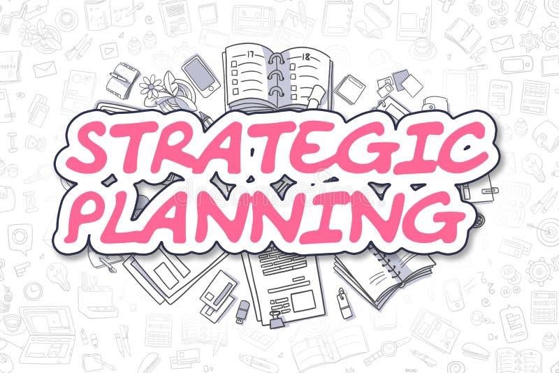 Strategische Planung - Karikatur-Magenta-Text Die goldene Taste oder Erreichen für den Himmel zum Eigenheimbesitze stock abbildung