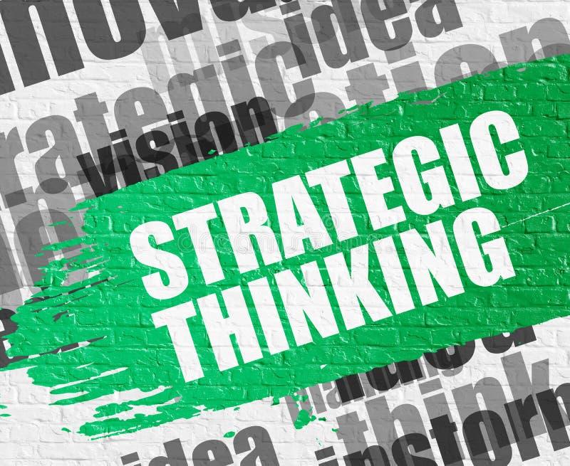 Strategisches Denken auf Backsteinmauer lizenzfreie abbildung
