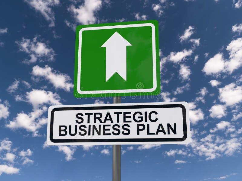 Strategisches Unternehmensplan-Zeichen vektor abbildung