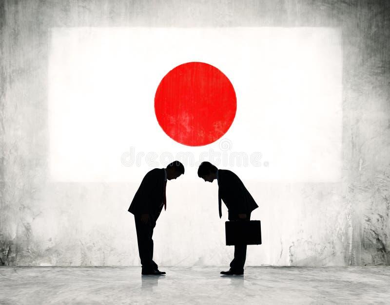 Strategisk planläggning för affär i Japan vektor illustrationer