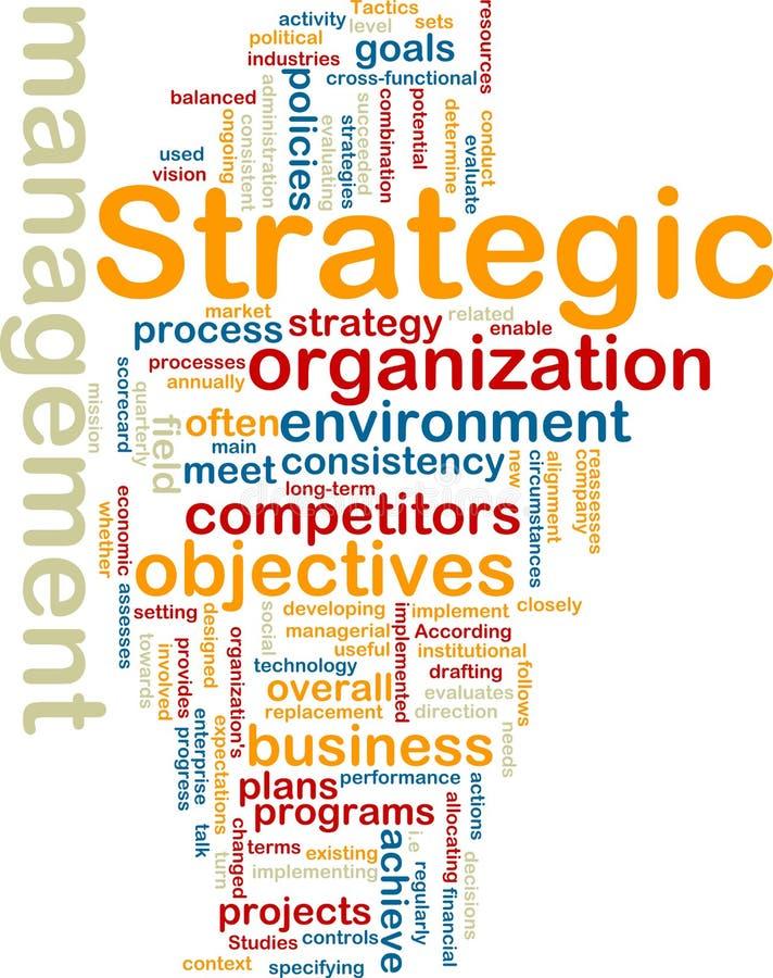 strategisk wordcloud för administration vektor illustrationer