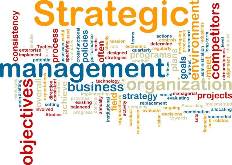 strategisk wordcloud för administration royaltyfri illustrationer