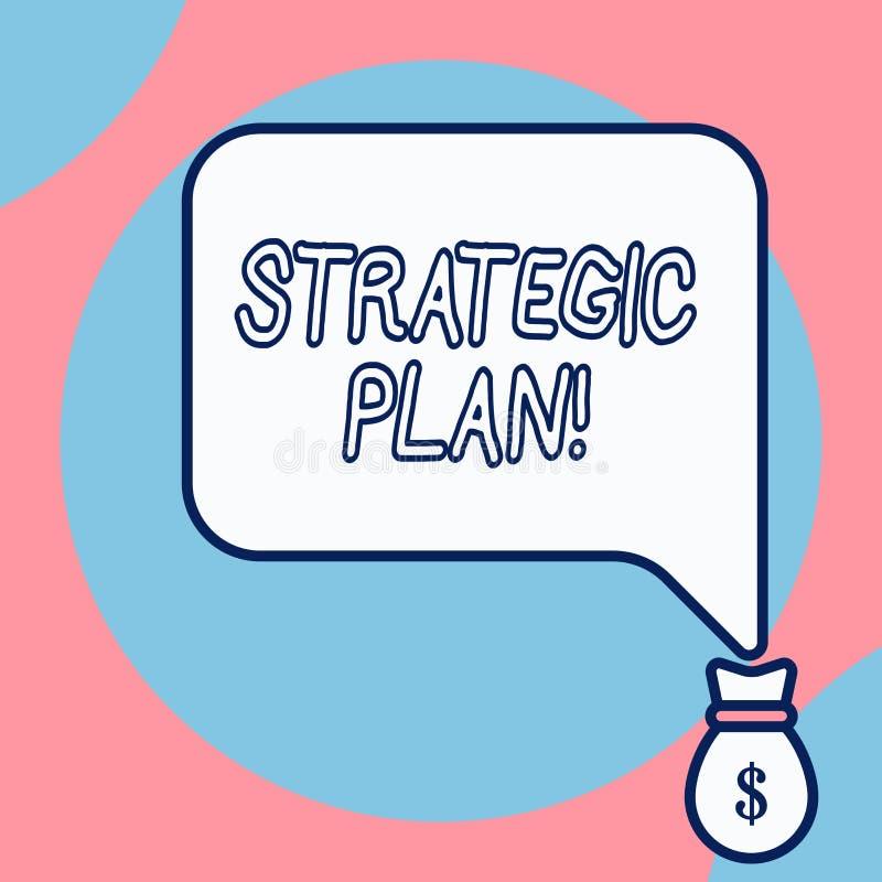 Strategiskt plan f?r ordhandstiltext Aff?rsid? f?r analysisagementaktivitet som ?r van vid upps?ttning- och fokusprioriteter vektor illustrationer