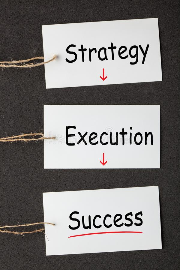 Strategiutförandeframgång arkivbild