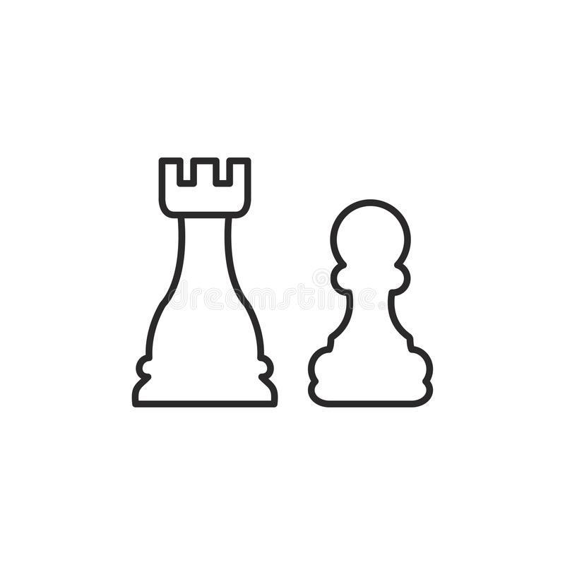 Strategivektorsymbol royaltyfri illustrationer