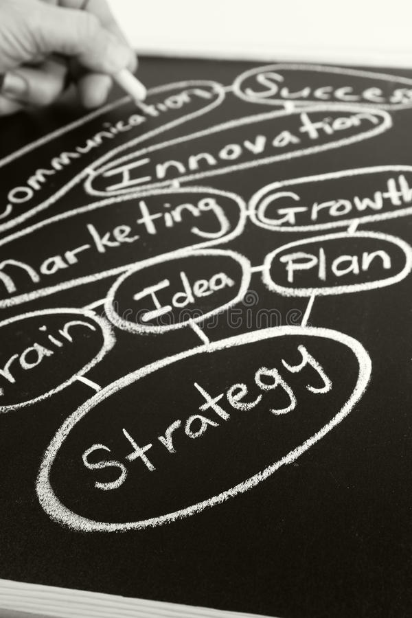 Download Strategy stock image. Image of conceptual, chalkboard - 28560123