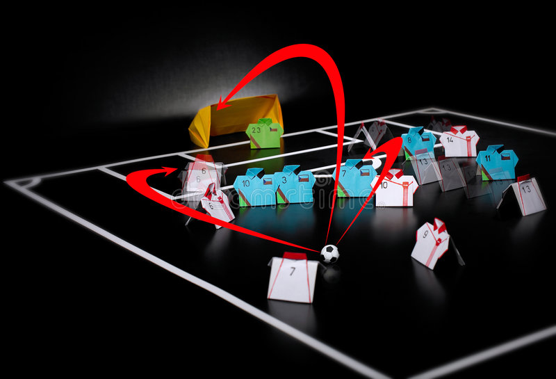 Strategy. Tactical strategy preparation for better game royalty free stock photo
