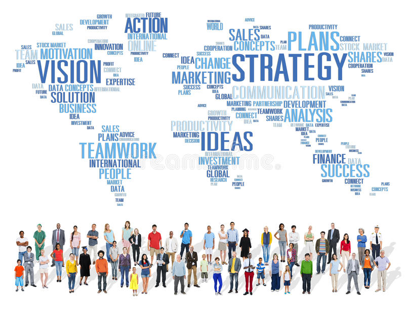 Strategy Analysis World Vision Mission Planning Concept stock photography