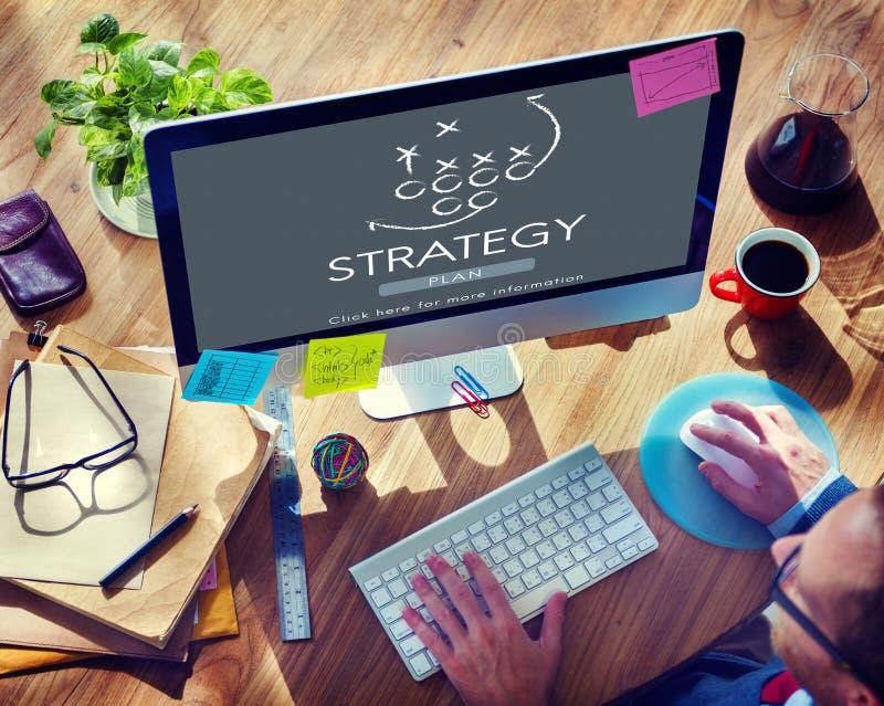 Strategy Analytics-Tactiekdoelstellingen die Concept plannen royalty-vrije stock foto's