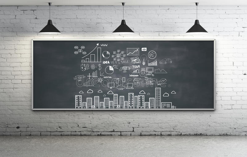 Download Strategy On Blackboard Royalty Free Stock Photos - Image: 29171438