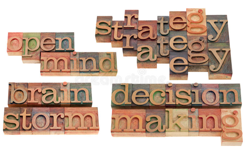 Strategy, brainstorm and decision making stock photo