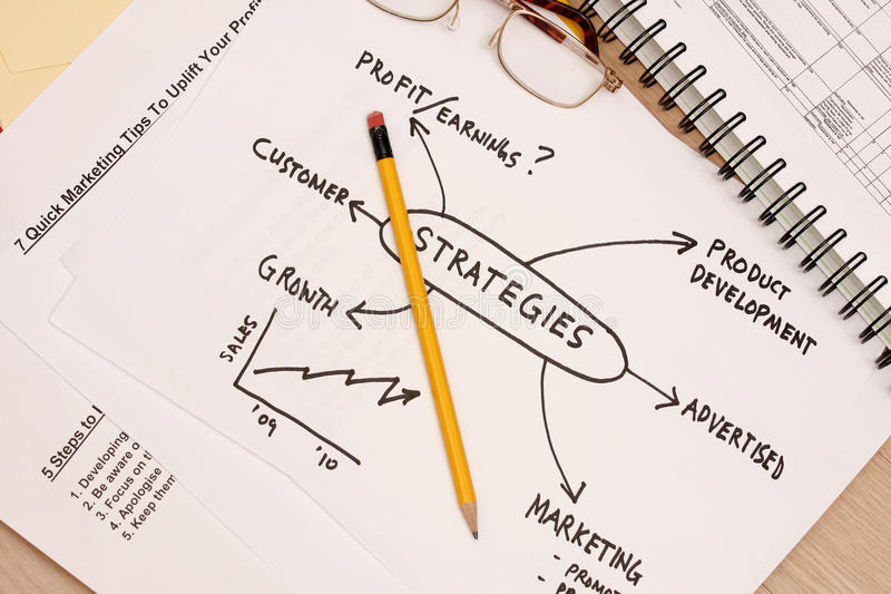 Strategy Business plan stock photo