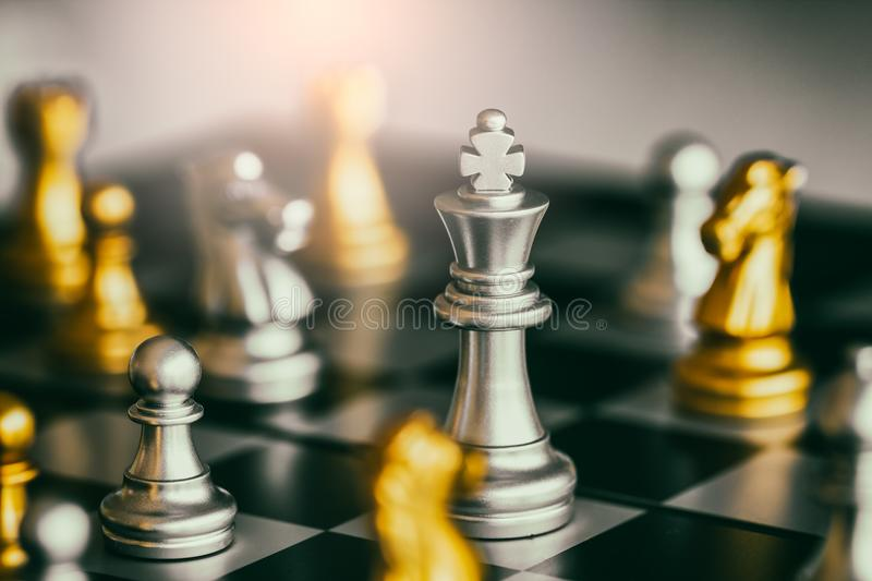 Strategy chess battle Intelligence challenge royalty free stock image