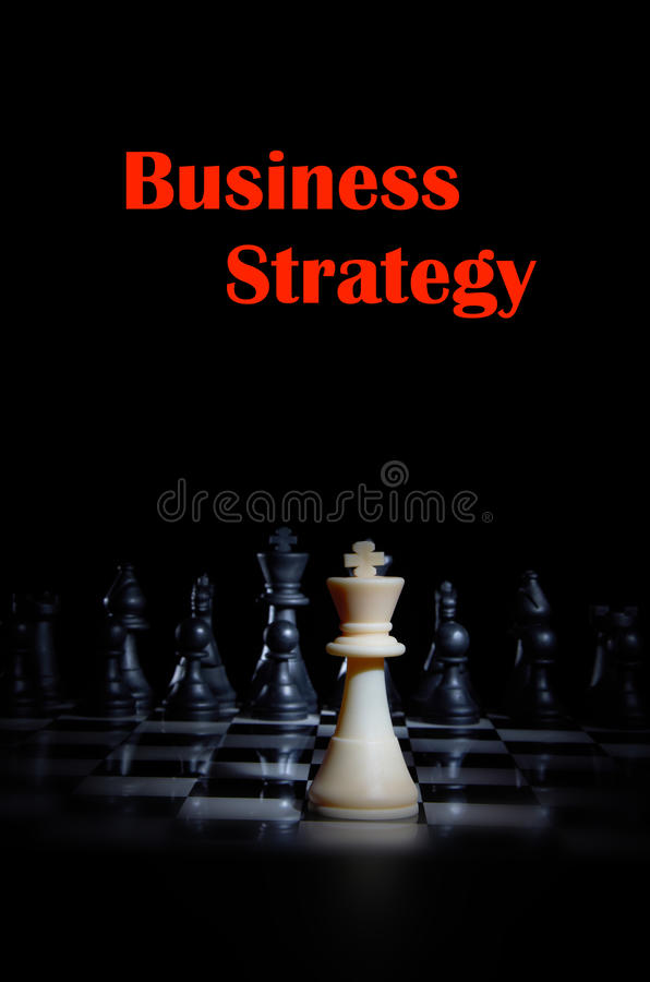 Strategy Chess Game. With mood lighting stock images