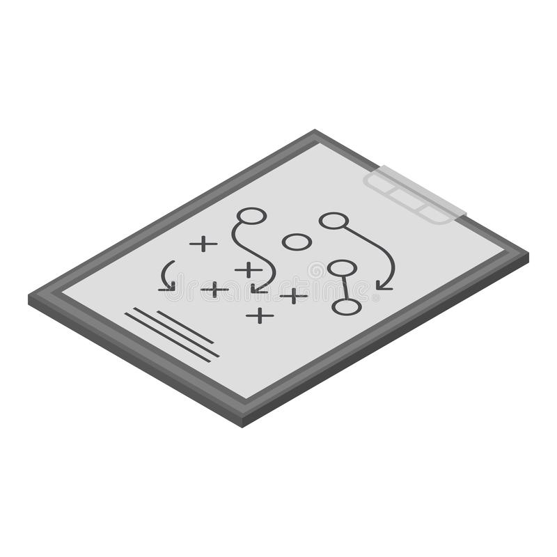 Strategy clipboard icon, isometric style vector illustration