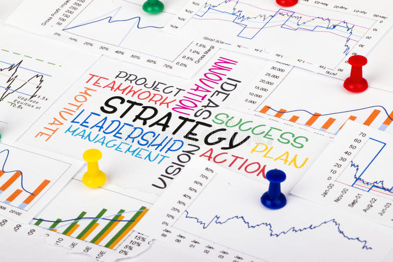 Strategy concept with financial graph. Commercial strategy concept with financial graph royalty free stock images