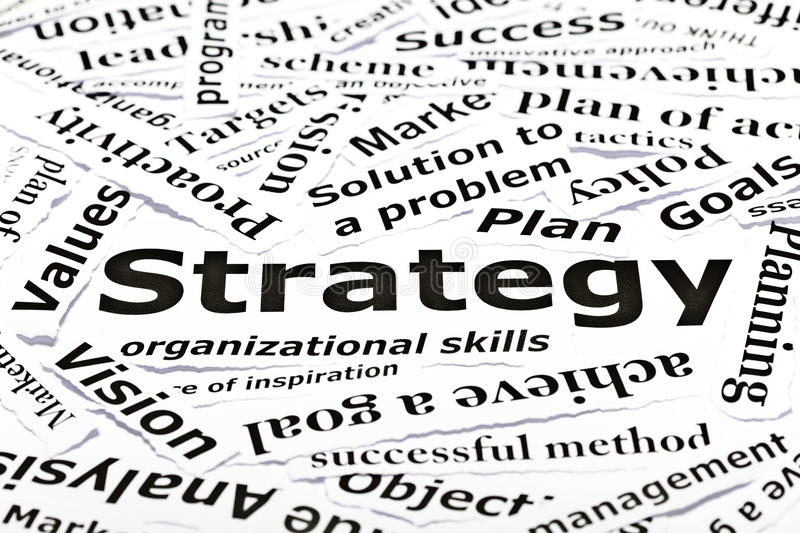 Download 'Strategy' Concept With Other Related Words Stock Image - Image: 19793573