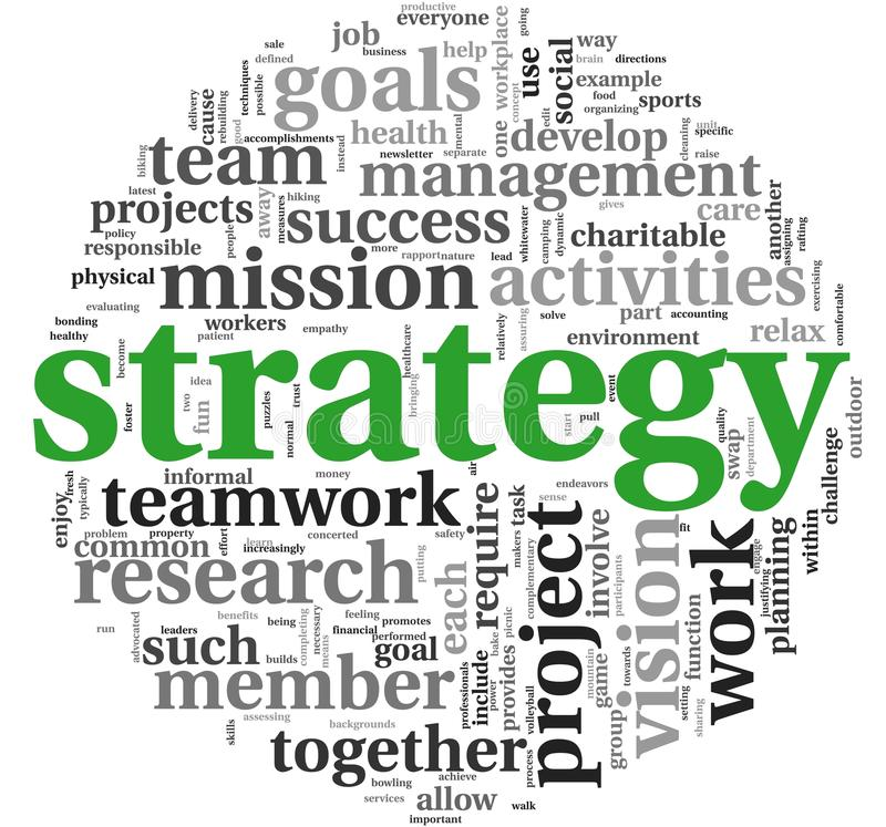 Download Strategy Concept In Word Tag Cloud Stock Illustration - Image: 25555061