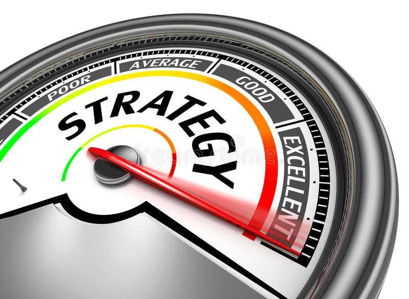 Strategy conceptual meter royalty free illustration